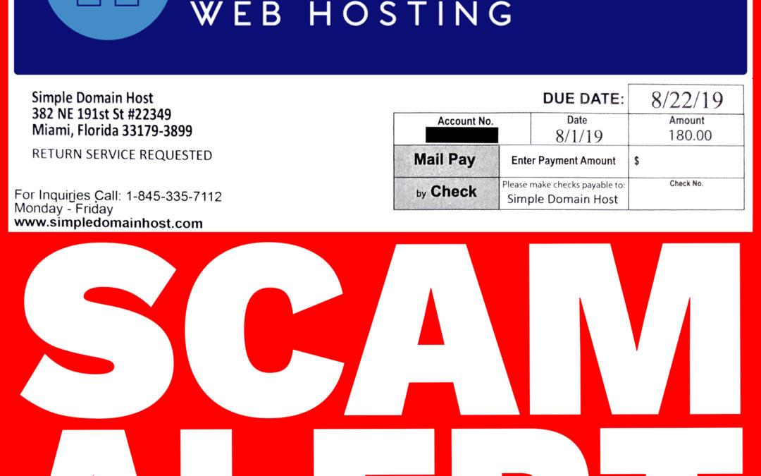 Attempted Scam, Simpledomainhost.com? It sure feels like it.