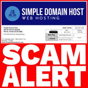 Simple Domain Hos Web Hosting Scam Alert